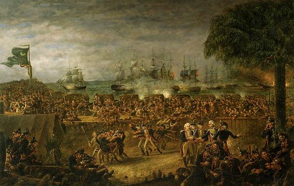 Battle of Sullivan's Island painting