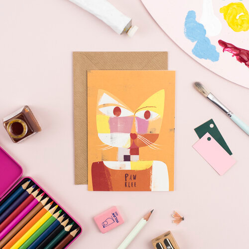 Carte + Enveloppe Paw Klee