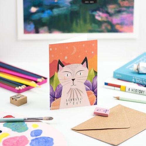Carte + Enveloppe Georgia O' Cat
