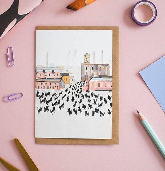 Carte + Enveloppe Meowry
