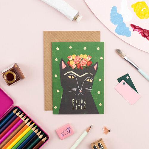 Carte + Enveloppe Frida Catlo