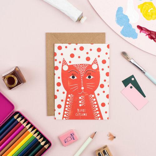 Carte + Enveloppe Yayoi Catsama