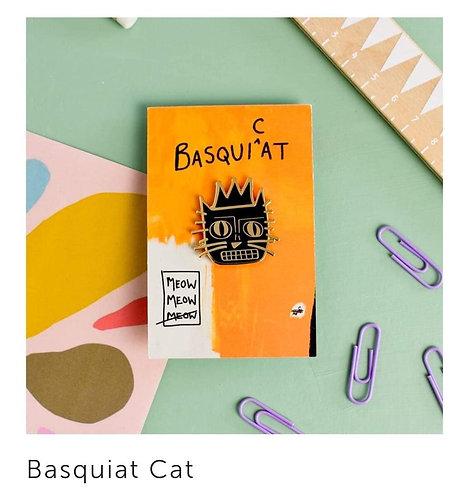 Pins Basquiat Cat