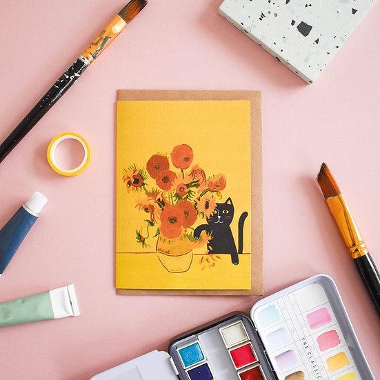 Carte + Enveloppe Salutations chat de Vincent