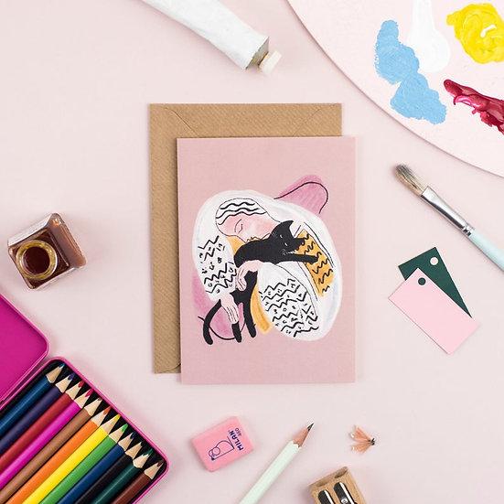 Carte + Enveloppe Matisse Cat Hug