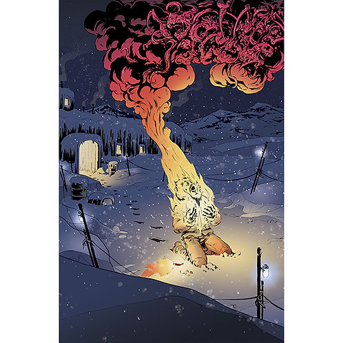 The Thing: Death of Fuchs, 11x17 Print