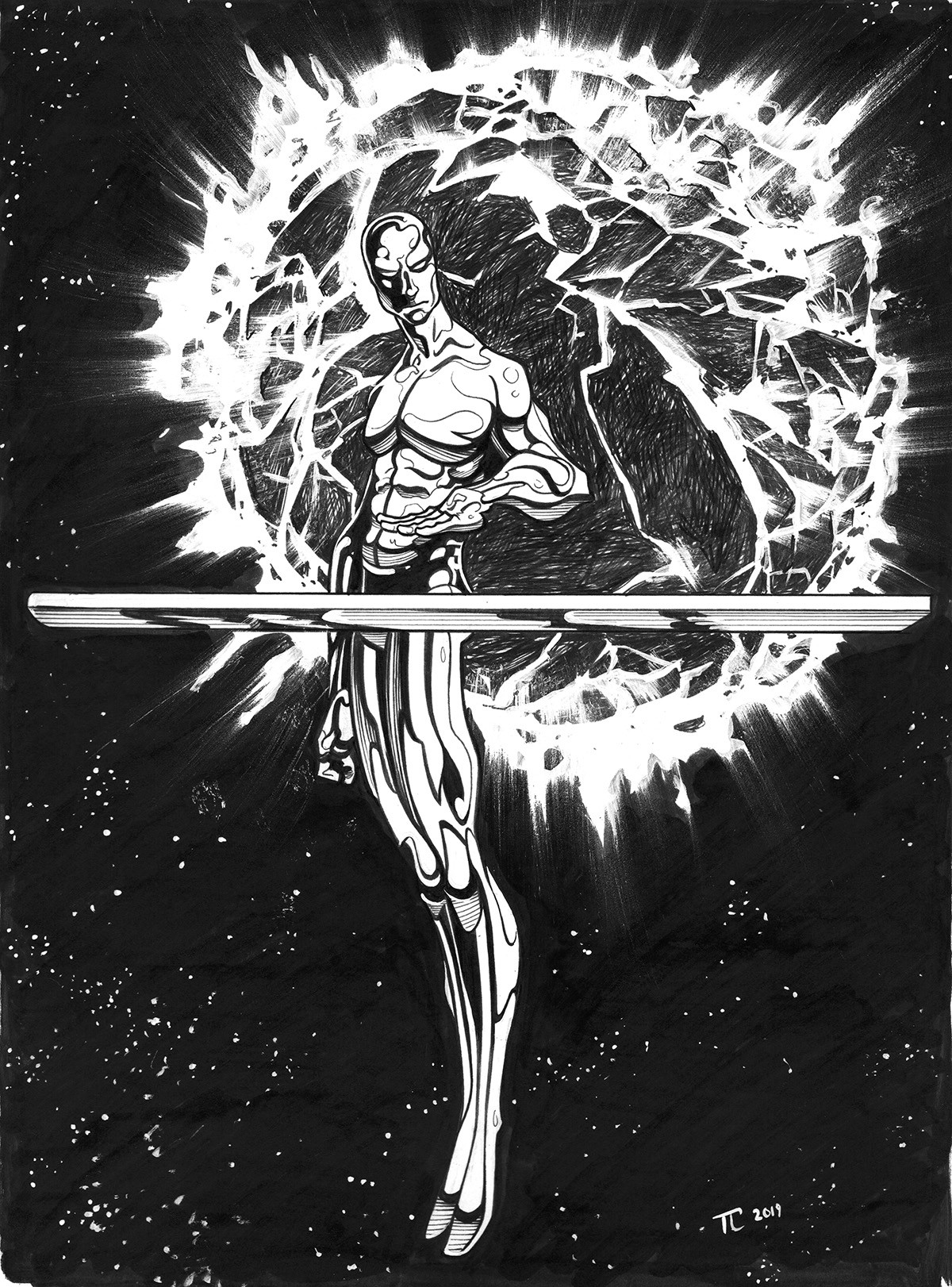 Silver Surfer Commission