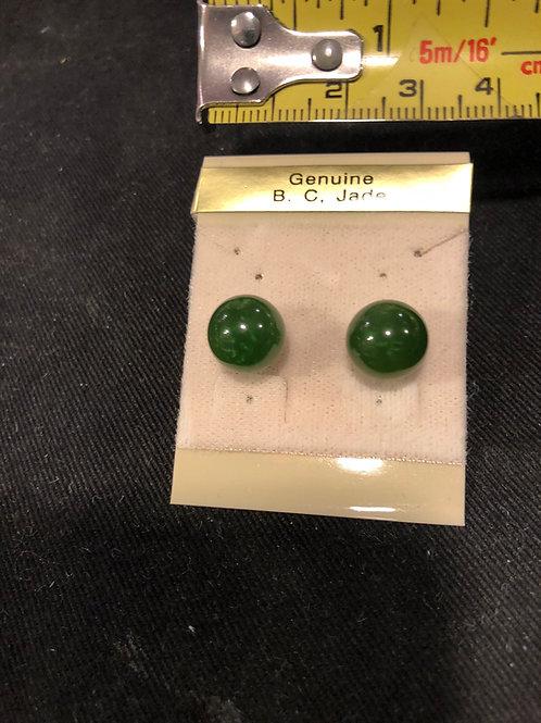 earrings made of canadian jade
