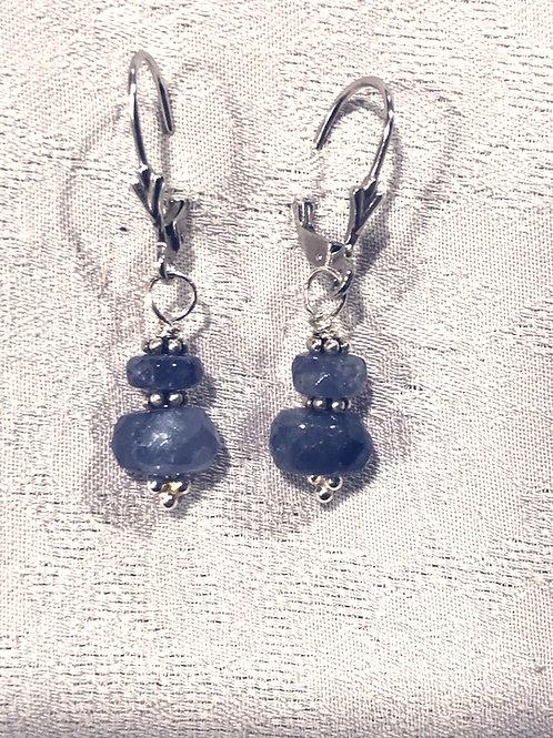 Tanzanite +sterling silver earrings