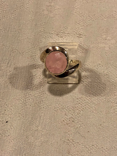 Morganite ring set with sterling silver size6.75