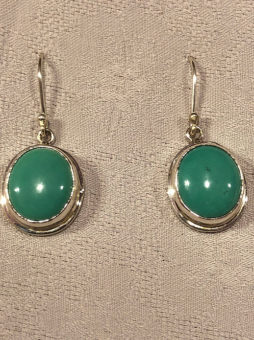 Natural turquoise set with sterling silver