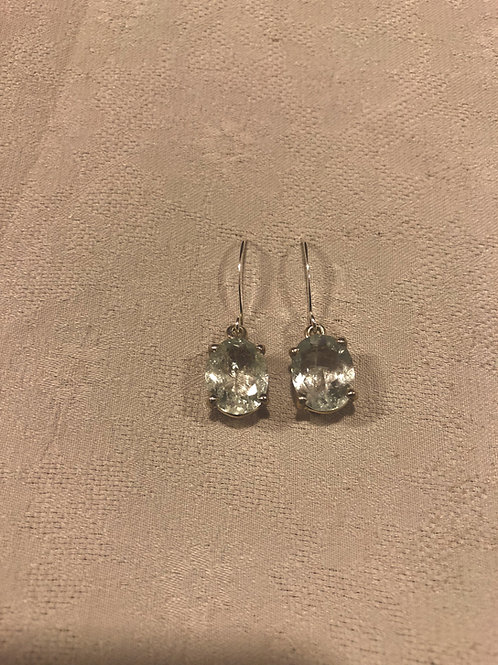 Aquamarine earrings set with sterling silver