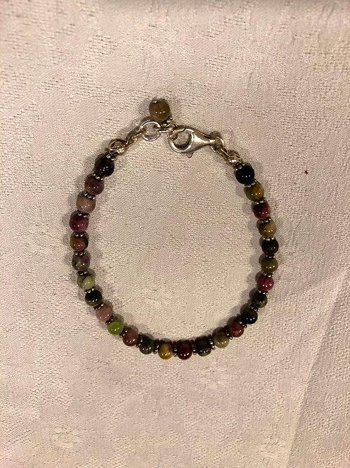 Tourmaline+sterling silver bracelet