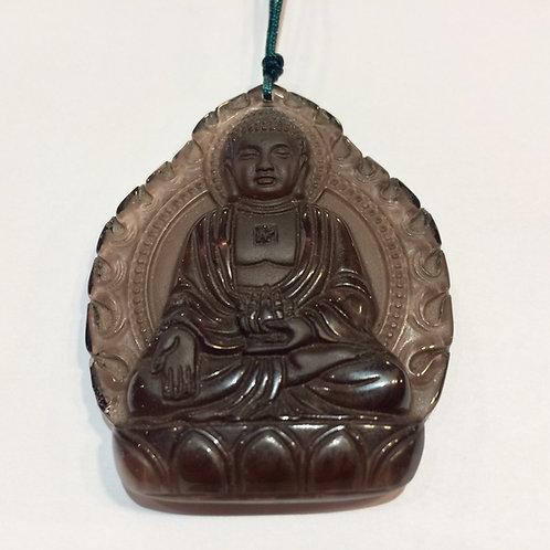 Obsidian Buddha Pendant 1
