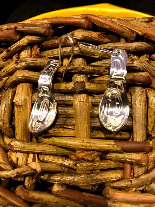 Handmade native silver earrings