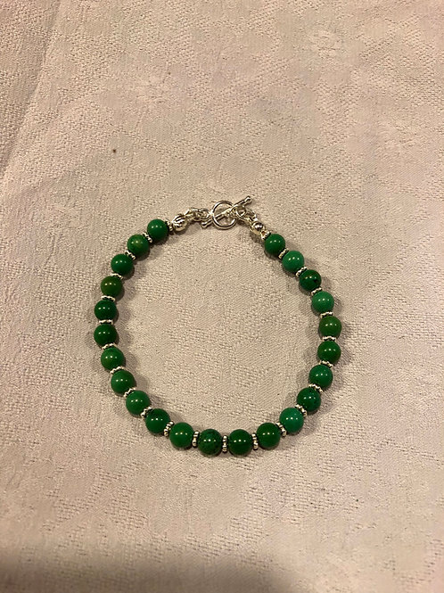 Natural turquoise+sterling silver bracelet