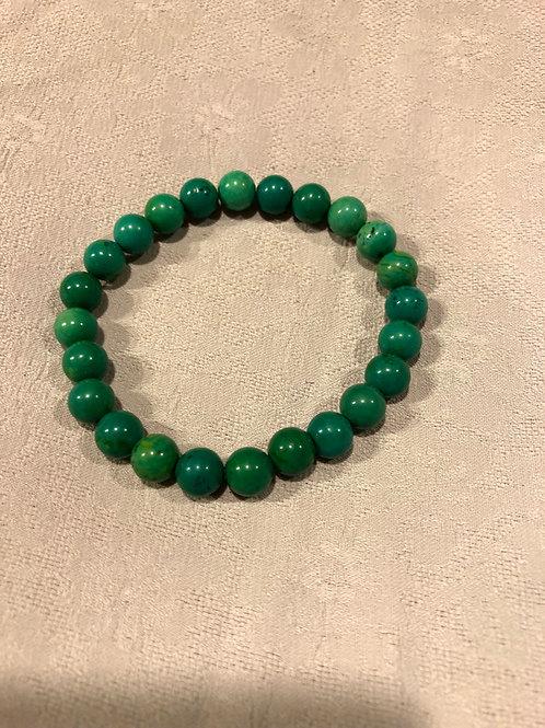 Natural turquoise bracelet, round shape