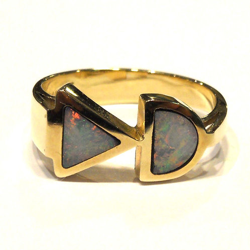 Opal Ring in Gold Setting