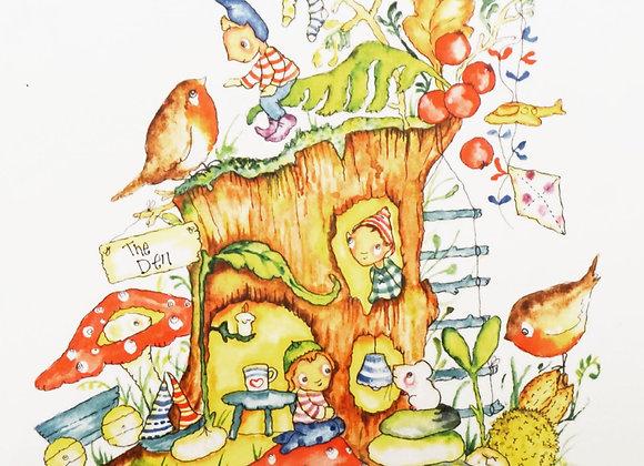 Toad Stool Tree CARD