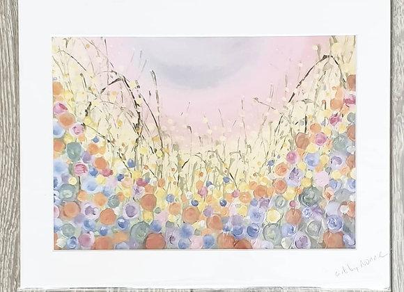 Grass Flowers Acrylic Painting