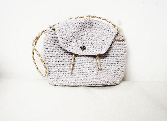 Light purple crochet shoulder bag