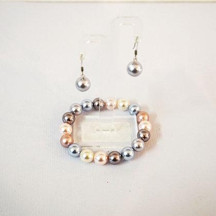 Cool Pearl Bracelet / Earring set