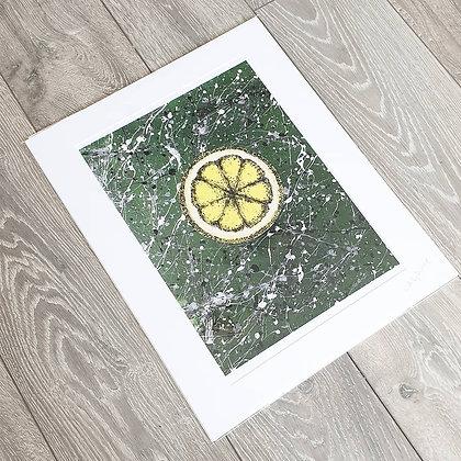 Green Lemon Acrylic Painting