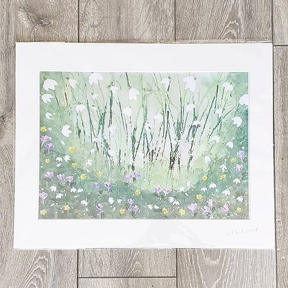 Snowdrop Acrylic Painting