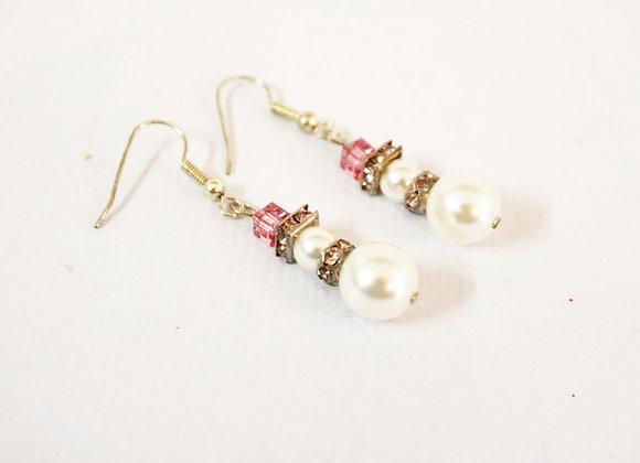 Snowman Earrings PINK