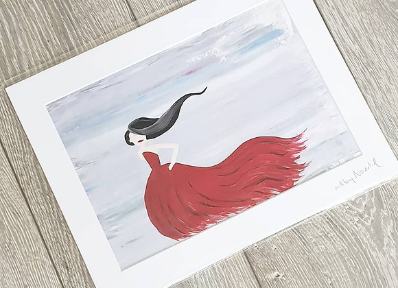 Runway Red Acrylic Painting