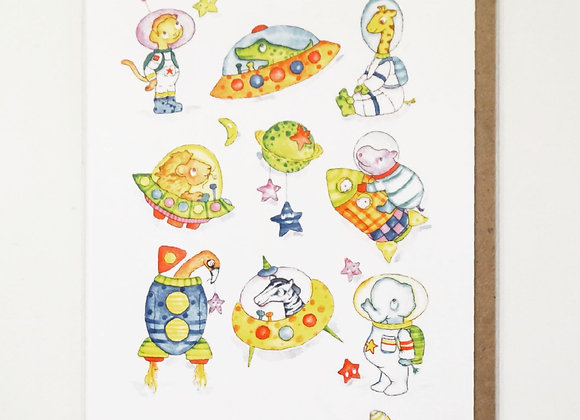 Space animals Card