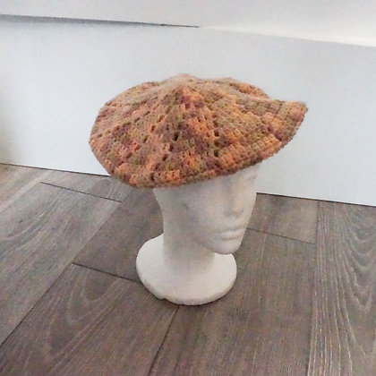 Crochet Hat Warm colours
