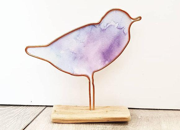 Purple Watercolour Bird
