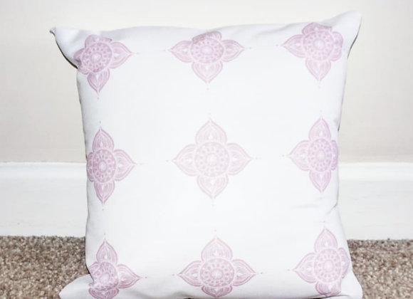 MANDALA Cushion (White/Pink)