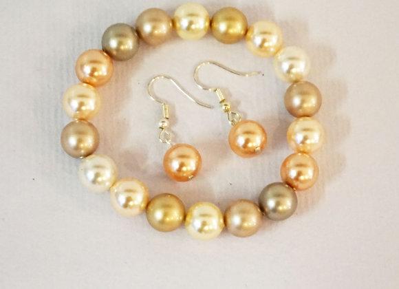 Pearl Bracelet / Earring set
