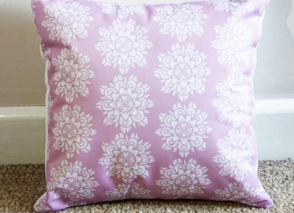 MANDALA Cushion (Pink/White)