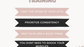 MY TOP 5 TIPS ON TRAINING