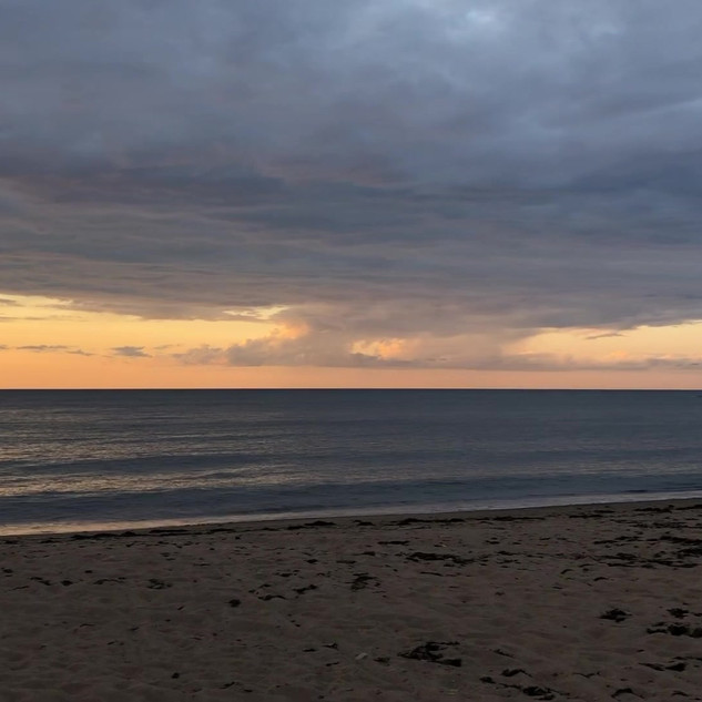 Beach at sunset video clip
