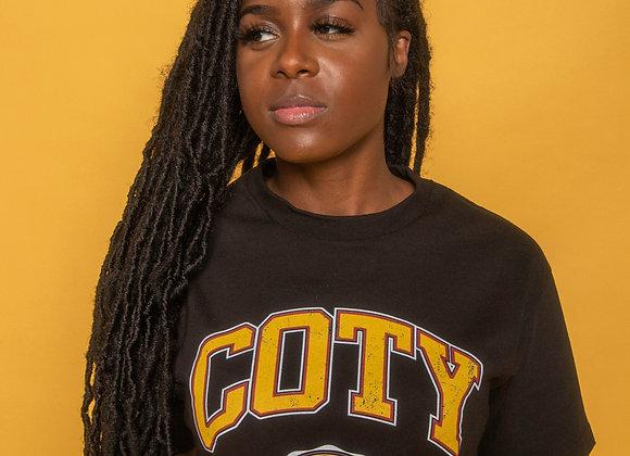 Black COTY Tee | COTY Emblem Design