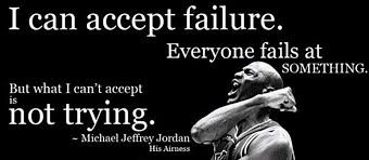 Athletes: You are FREE to FAIL. Yes, fail.