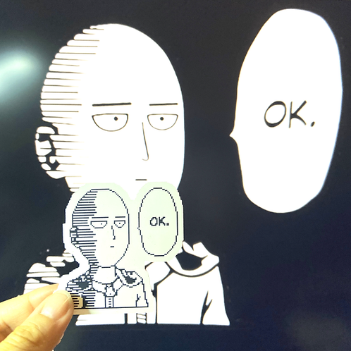 """Saitama OK Matte Vinyl Sticker (2"""")"""