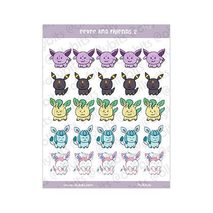B103 - Eevee & Friends 2 Sticker Sheet