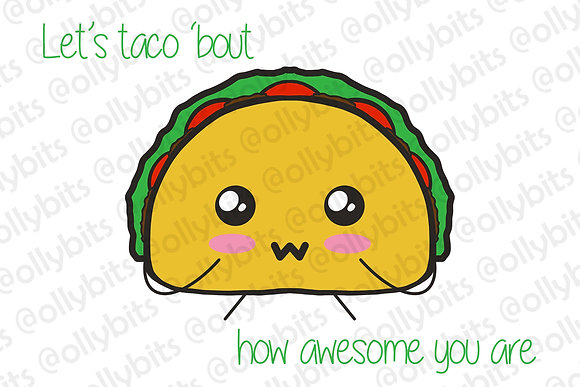 Let's Taco Bout 4x6 Print & Postcard Illustration