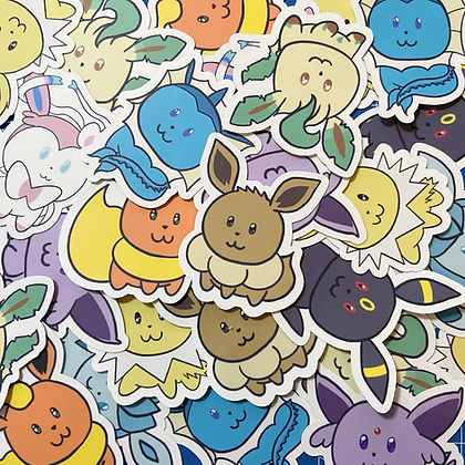 "Eevee & Friends 2"" Vinyl Sticker"