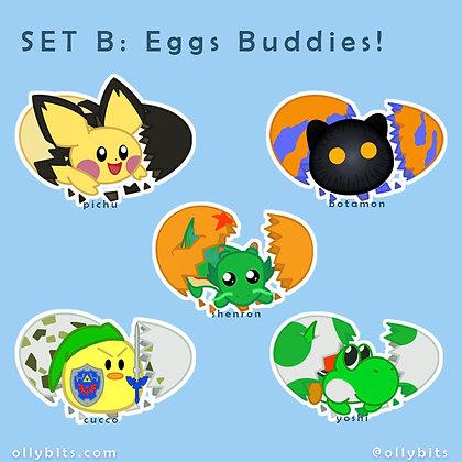"""Egg Buddies Matte Vinyl Sticker (2"""")"""
