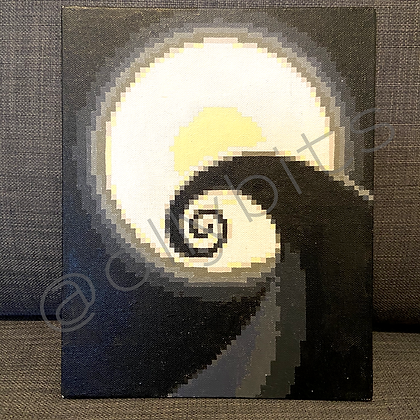Spiral Hill Pixel Art Painting Original