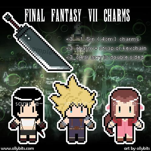 Final Fantasy Pixel Art Acrylic Charms