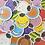 "Thumbnail: Assassination Classroom Koro-Sensei Emotions Matte Vinyl Sticker (2"")"
