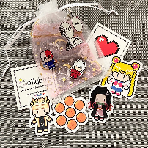 Anime Mystery Bag (Charms & Stickers!)