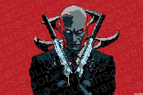 Hitman Agent 47 Pixel Art 11x17 Poster